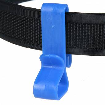 Wieszak niebieski na pasek - Belt Clip for Ear Defenders, Blue