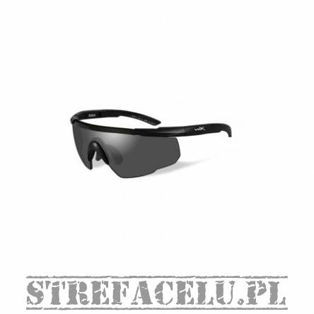 Okulary WileyX Saber Adv. Smoke Lens 302 / Matte Black Frame w/Bag