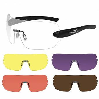 Okulary WileyX Detection Clear Yellow Orange Purple Copper Lens 1205 / Matte Black Frame